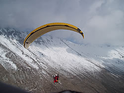 James flying the main ridge at Greolieres, Jan '06